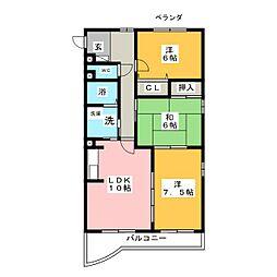 Sophia Court[2階]の間取り