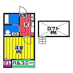 MAHOROBA[1階]の間取り