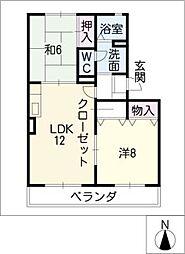 七郷パストラル[2階]の間取り