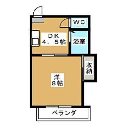 メゾン桃栄[1階]の間取り