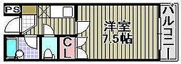ミヤコピア高松[207号室]の間取り