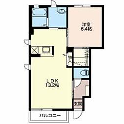 JR中央本線 下諏訪駅 徒歩21分の賃貸アパート 1階1LDKの間取り