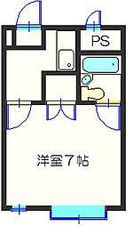 ▲リバティハウス[301号室]の間取り
