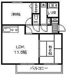 アムール神宮[B203号室]の間取り