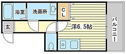 兵庫県姫路市十二所前町の賃貸マンションの間取り