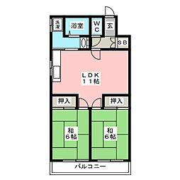 法城ビル[4階]の間取り