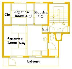 竹山第2 3205[5階]の間取り
