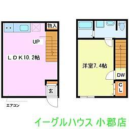 Loft ZEN デザイナーズアパート新築 1階1LDKの間取り