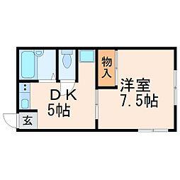水田ハイツ[2階]の間取り