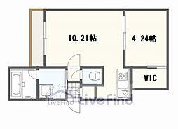 札幌市営東西線 南郷13丁目駅 徒歩7分の賃貸マンション 3階1LDKの間取り