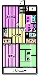 セレブラール戸田[205号室]の間取り