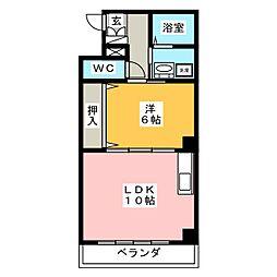 ドミールYASHIROII[3階]の間取り
