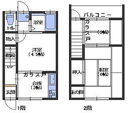 広島県呉市阿賀中央7丁目の賃貸アパートの間取り