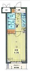 都営大江戸線 牛込神楽坂駅 徒歩3分の賃貸マンション 4階1Kの間取り
