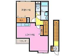 シャルマンハイツ A B[2階]の間取り
