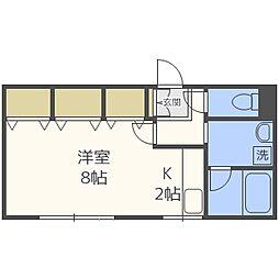 パープルタウン菊水[3階]の間取り