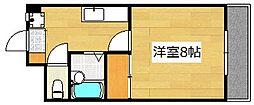 サンライズ日本[602号室]の間取り