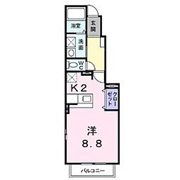 長野県上田市常磐城4丁目の賃貸アパートの間取り
