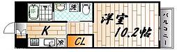 広島県広島市中区舟入南2丁目の賃貸マンションの間取り