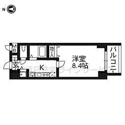 プレサンス二条城北聚楽1003[10階]の間取り
