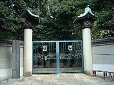 文化財伊藤博文墓所まで670m