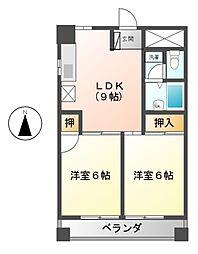 シャトーレ藤江[1階]の間取り