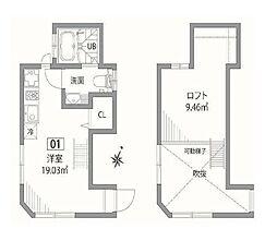 小田急小田原線 梅ヶ丘駅 徒歩2分の賃貸テラスハウス 1階1SKの間取り