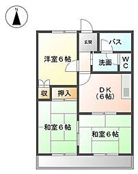 サニータウンMIYAZAKI A[1階]の間取り