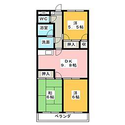 ランティスカニエ[3階]の間取り