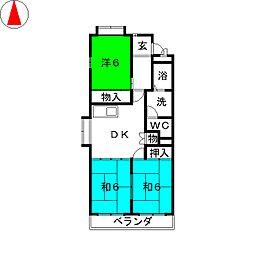 MAベルモード[2階]の間取り