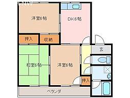 メゾンカレリア[2階]の間取り