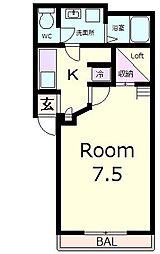 ピュアクリスタル1[1階]の間取り