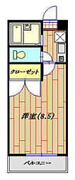 RHK栄和8[205号室]の間取り