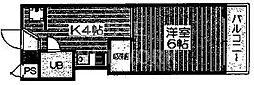 エスポワール都[306号室号室]の間取り