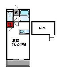 KFコーポ[2階]の間取り