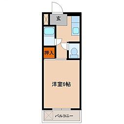 rinobirth6(リノバース6)[206号室号室]の間取り