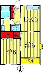 千葉県松戸市平賀の賃貸アパートの間取り