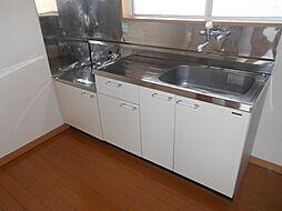 プルミエの2口ガスコンロ設置可能の使いやすいキッチンです