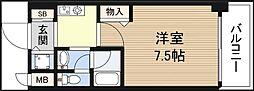 フェリーチェ難波オーベスト[7階]の間取り