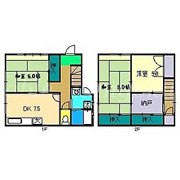 [一戸建] 高知県南国市大そね甲 の賃貸【/】の間取り