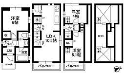 [一戸建] 東京都文京区本駒込1丁目 の賃貸【/】の間取り