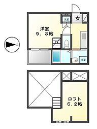 愛知県名古屋市瑞穂区神穂町の賃貸アパートの間取り