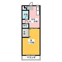 ラ・ピーヌ福島[2階]の間取り