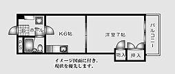 井手ビル--[405号室]の間取り