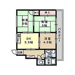 コーポグリーン[3階]の間取り