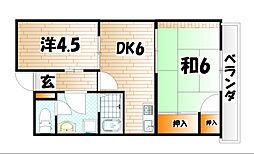 アベニュー21[5階]の間取り