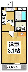 ビオス北朝霞[6階]の間取り