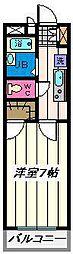 埼玉県さいたま市大宮区桜木町の賃貸マンションの間取り
