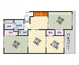 大阪府高石市西取石7の賃貸マンションの間取り