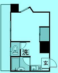 ウィズKYH[11階]の間取り